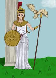 The Goddess Athena by bebesdupoire