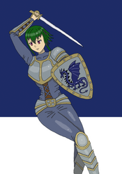 Ara in armor by bebesdupoire
