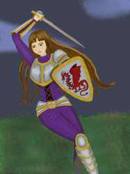 Wielding a Sword by bebesdupoire