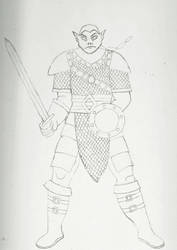 Half Orc Fighter WIP by bebesdupoire