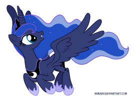 Princess Luna - Beautiful Pony of the Night by Nimaru