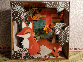 Red Foxes by Ra-ooo