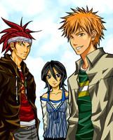 Bleach: Ichigo, Rukia, Renji by animetor21