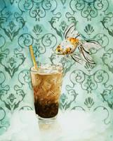 goldfish ice coffee by Kayla-Noel