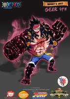 Monkey D. Luffy Gear 4rth by donaco