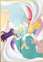 Link Between Princesses by LaudyLau