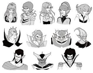 Goldorak personnages by Furedo