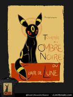 Ombre Noire (Umbreon, Pokemon) by Ruwah