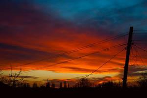 Fire in the sky by SamuraiSunshine