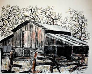 Old barn by Rhed-Dawg