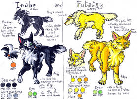 Inabe And Futatsu Reference Sheet by ARVEN92