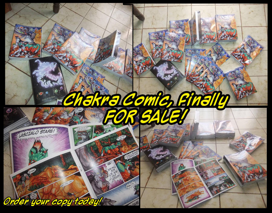 Chakra Comic FOR SALE! SOLD OUT! by ARVEN92