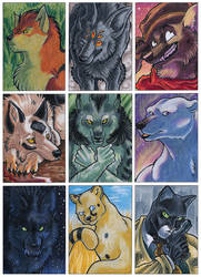 ACEO Cards: Comic Characters by ARVEN92