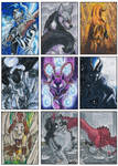 ACEO Cards - Commission Set 1 by ARVEN92