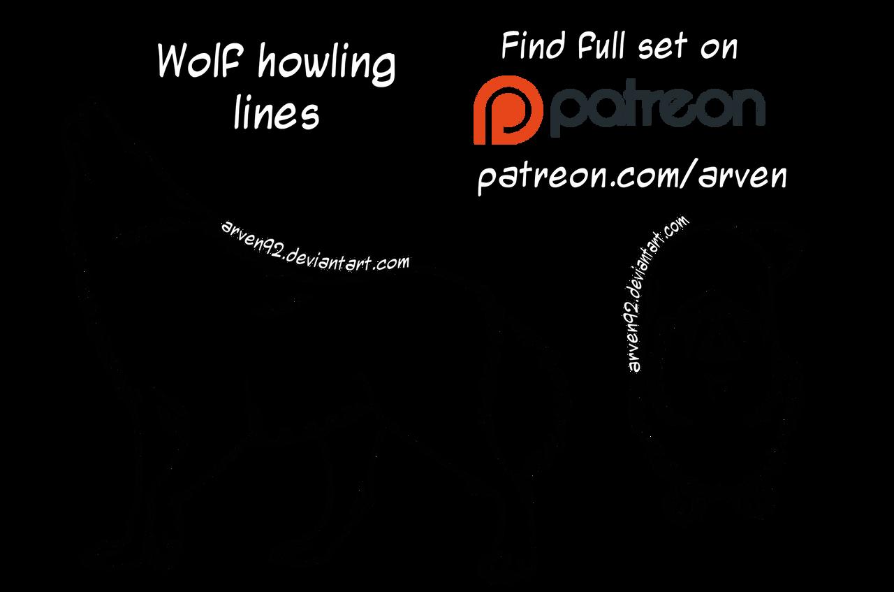 Howling Wolf Lineart Www Tollebild Com