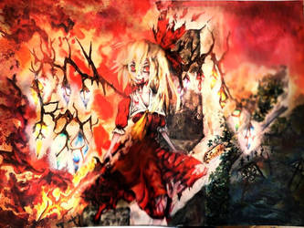 Flandre Scarlet ~ Father's Grave (Touhouvania) by Gewitter8