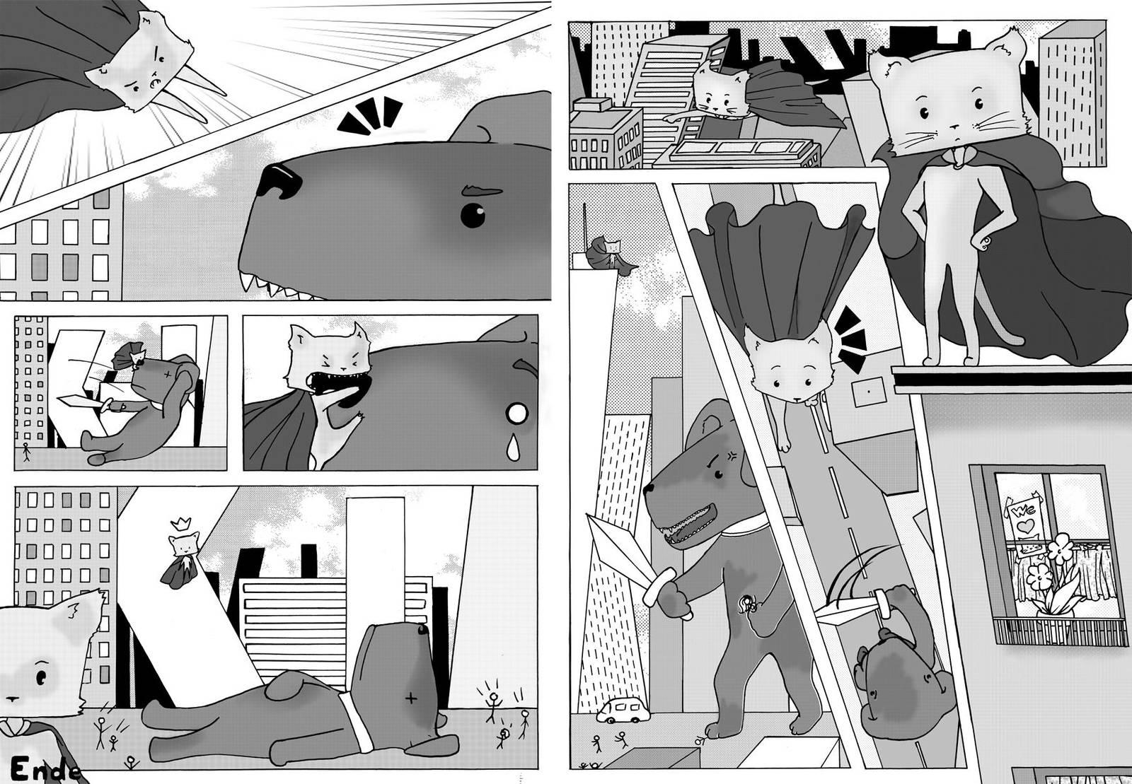 Supercat vs Dogzilla! by Creative-Caro