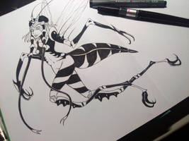 One punch Mosquitogirl by Creative-Caro