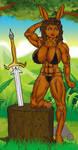 Lusynda, Bouncy Bunny Barbarian (Repost) by Grey-Garou