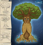 Wood-Mage in tree form by TarXor