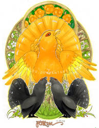 Golden Capercaillie by pentsu