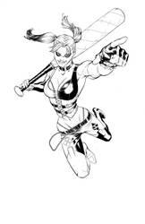 Arkham Harley by UnderdogMike