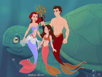 Mer!Stydia and Daughter by OceanSilverBreeze