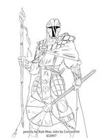 Kuk-Man's Mandalore I, inks by CorranFett