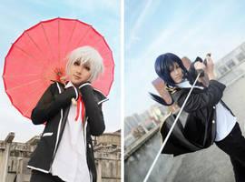 K : Isana Yashiro and Yatogami Kuroh by Ray-DDDDD