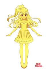 Goldie The Gold Unicorn Zord As A Human by ilovemew399