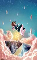 Uravity floating through the skies by CatitaRisonha