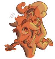 [Sketch] Crash and Coco Bandicoot by farooqskariem