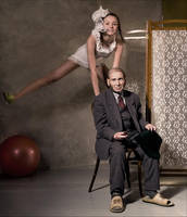Irina with the grandfather by photoport