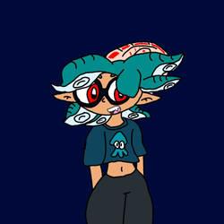 Aqua the Nautilus Inkling  by Mrloony96