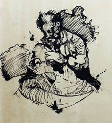 Homeless drawing by Sokolowicz