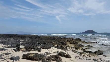 Fuerteventura (view on Los Lobos) by leoberos