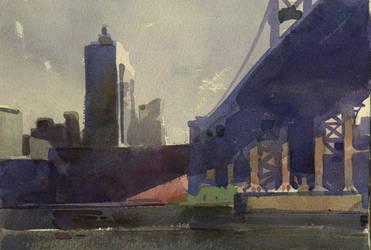 Under Brooklyn Bridge by staatsf