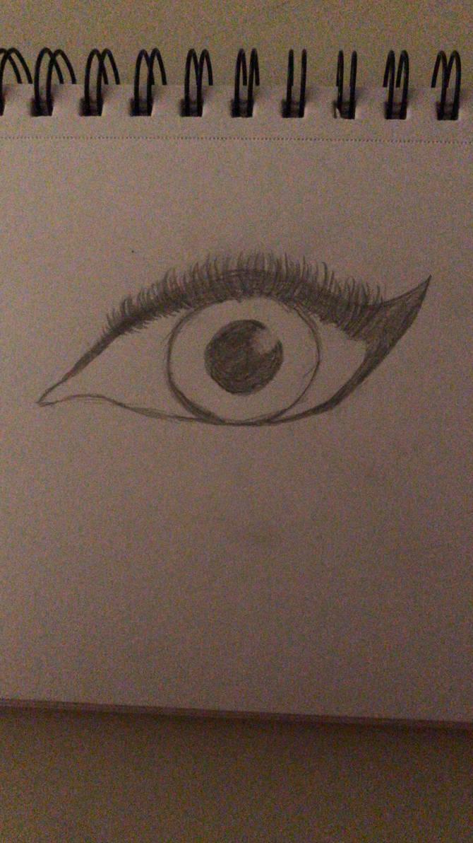 Eye sketch by Abiisartsy