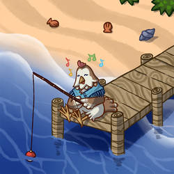 [CC] Hazel - Ocean Fishing by Woolifox