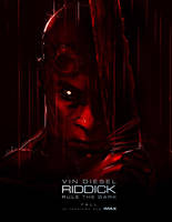 RIDDICK 3 COMIC CON POSTER ART by CHARLESRATTERAY