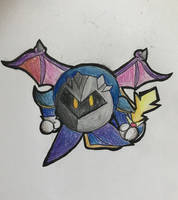 meta knight but from a weird angle by the-cow-goes-moon