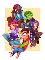 Teen Titans by GabiTozati