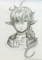 Alphinaud Leveilleur - Sketch by ClairDeTsuki