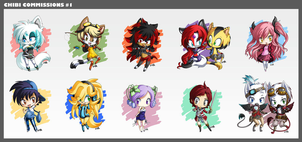 Chibi Commissions #1 by gen8