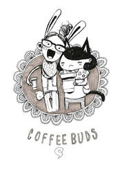 Coffee Buds by CaityHallArt