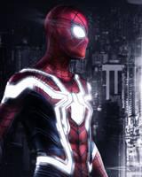IRON SPIDER - PS4 SPIDERMAN by iMizuri