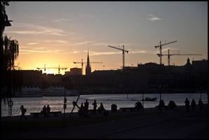Stockholm Sunset by Helkathon