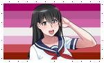 Lesbian Taeko/Senpai-Chan Stamp by DA-FcoMk513