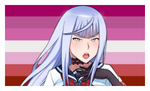 Lesbian Megami Stamp by DA-FcoMk513