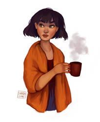 hot tea by shiraline